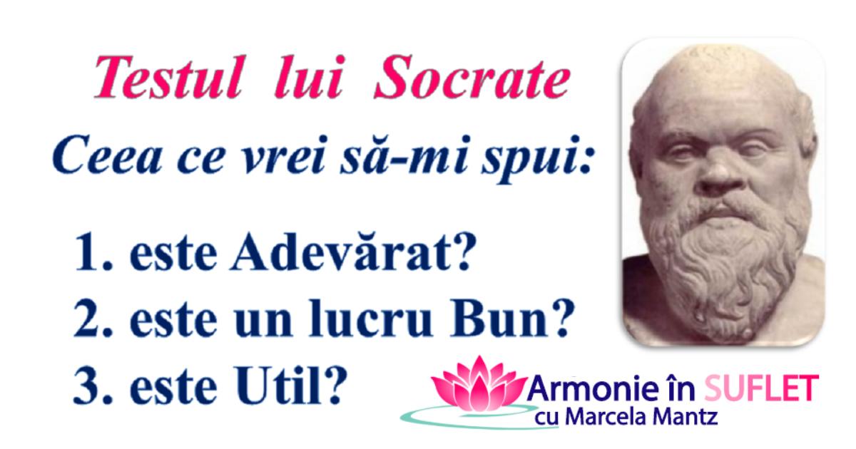 test Socrate - armonie in suflet